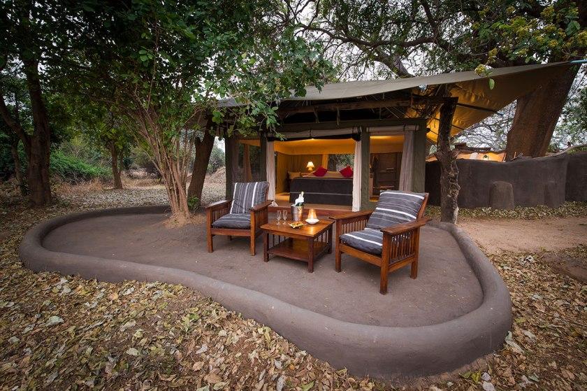 Room at the Tena Tena camp of Robin Pope Safaris.