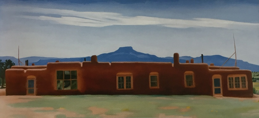 The House I Live In. Painting, 1937. Georgia O'Keeffe.