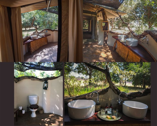Bathrooms at Robin Pope Safaris Tena Tena camp