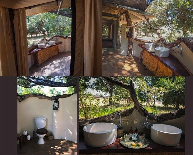 Bathrooms at Robin Pope Safaris Tena Tena camp