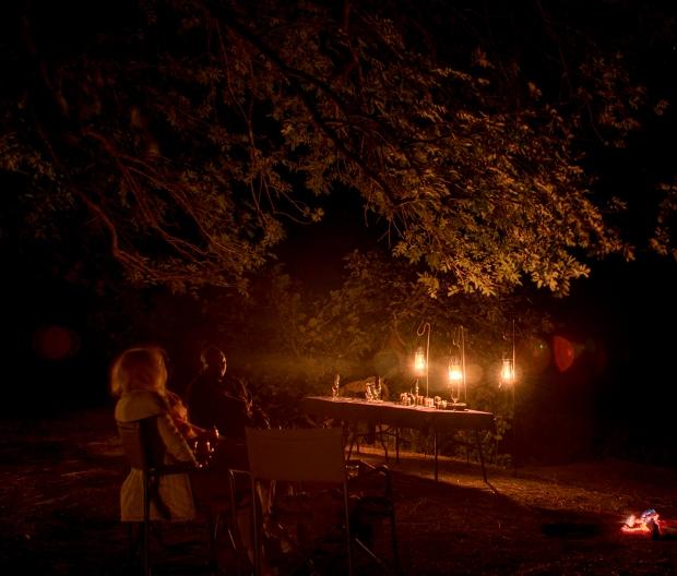 Dinner in Luangwa Bush Camp