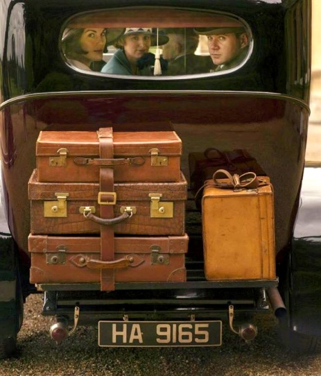 Downton Abbey car packed with suitcases