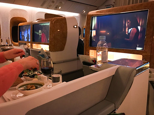 Emirates Business Class Houston to Dubai
