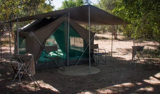 Luangwa Bush Camp Tent, Robin Pope Safaris walking safari