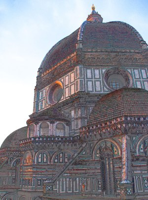 Duomo in Florence to inspire books about Italy.