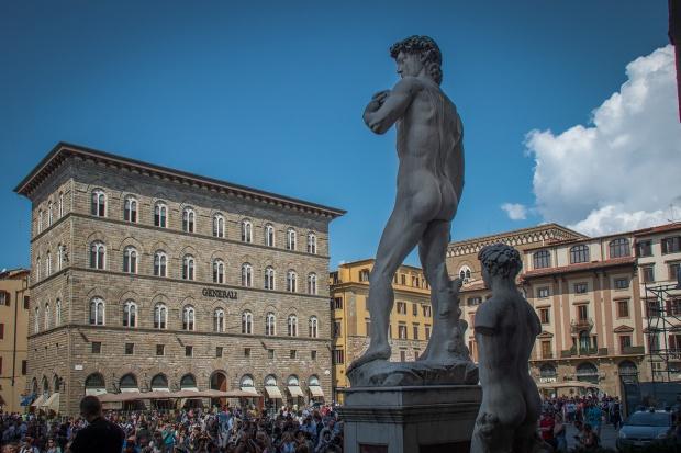 Piazza della Signoria on a florence italy walking tour