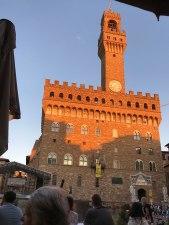 Sunset of the Piazza della Signoria, Florence.