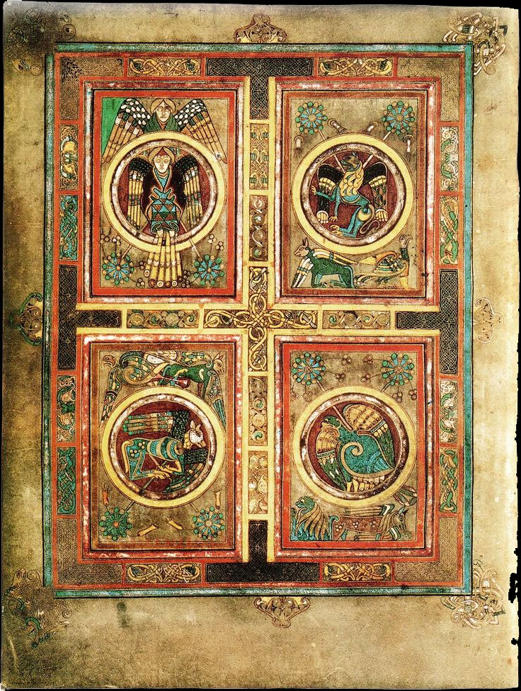 A page containing the four secrets of the book of kells