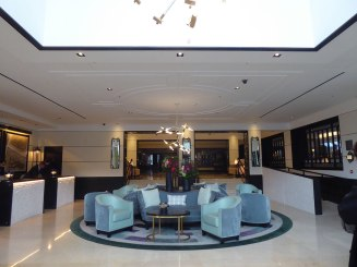 Lobby of the Conrad Hotel in Dublin