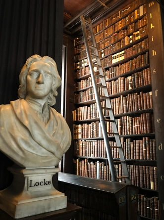 Bust of John Locke in the Long Room of the Old Library, Trinity College, Dublin