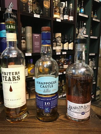 Whiskey tasting at the Celtic Whiskey Shop in Dublin