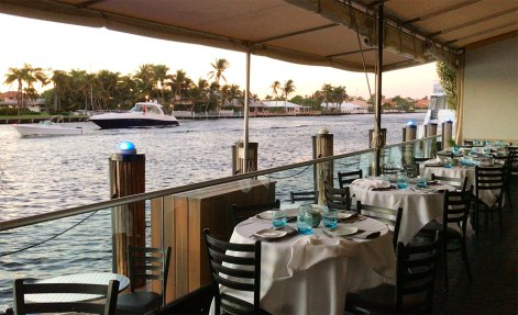 Waterside tables in Ft Lauderdale
