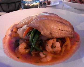 Pan Roasted Yellow Tail Snapper at the Blue Moon Seafood Co.