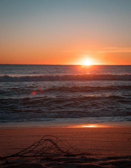 Ft. Lauderdale Getaways: Sunrise on Ft. Lauderdale Beach. Photograph, Ann Fisher.