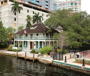 The Stranahan House on the Riverwalk in Ft. Lauderdale.