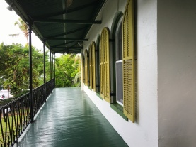 Second floor verandah of Hemingway's House.