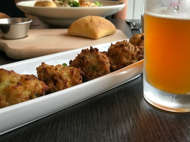 Conch fritters and Funky Buddha beer. Lunch at the Sonesta Ft. Lauderdale hotel.