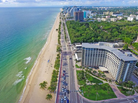 Aerial view of the Sonesta Ft. Lauderdale.