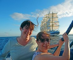 With my sister Carolyn, out photographing Royal Clipper.