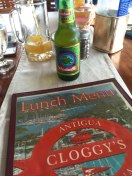 Lunch at Cloggy's in Antigua