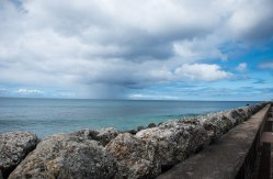 Rain Shower, off the shore of Barbados.