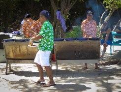 Royal Clipper Beach barbecue