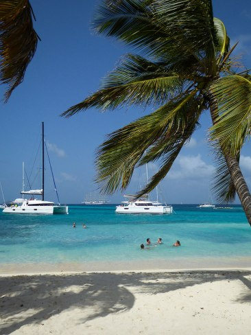 Tobago Cays: After our lunch on the beach, a little swim in the crystal clear water.