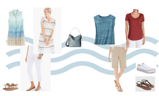 Set 2 of possible wardrobe combinations from the 2 Week Cruise Capsule Wardrobe