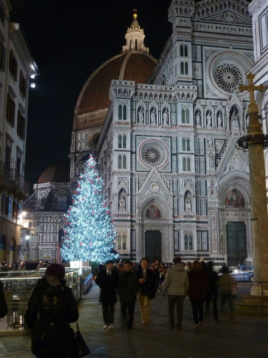 The Duomo, Santa Maria del Fiore -- Cathedral of Florence, is magnificent at Christmas.