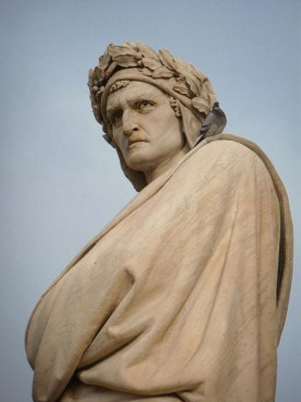 Statue of Dante outside of Santa Maria Novella