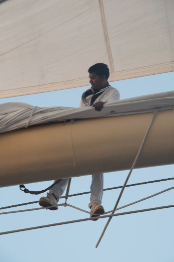 Furling the Main Sail