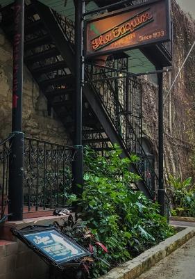 Riverwalk entrance to the Esquire Tavern in San Antonio