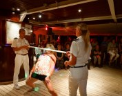 Limbo contest on the Royal Clipper