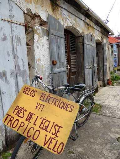Bicycle for rent in Terre de Haut in the Iles des Saintes.