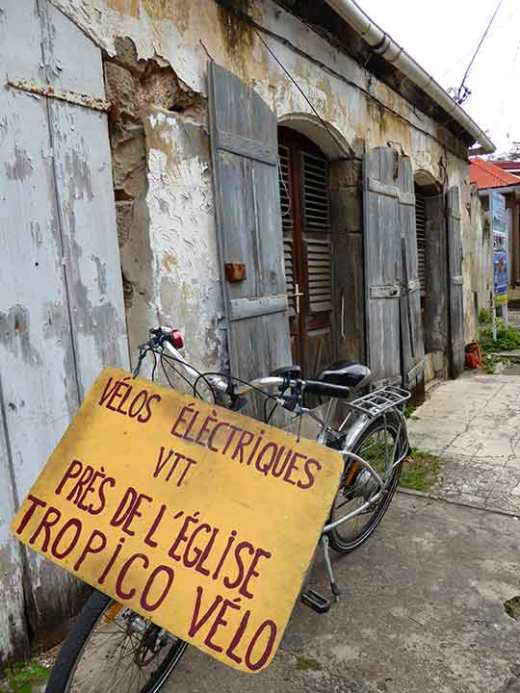 Bicycle for rent in Terre de Haut in the Iles des Saintes.
