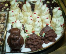 Christmas chocolates at the Caffe Rivoire in Florence Italy