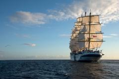 Royal Clipper under full sail