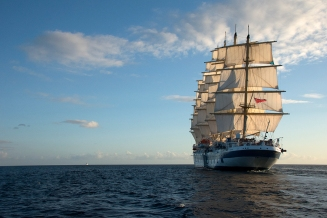 Royal Clipper under full sail
