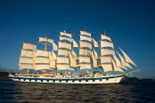 Royal Clipper under full sail.