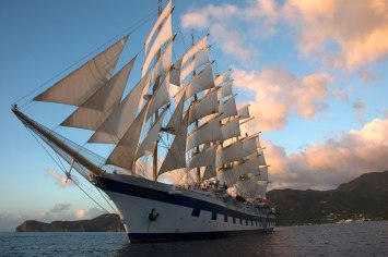 Royal Clipper near St. Lucia