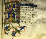 Detail of an illuminated manuscript from the monastery of San Marco in Florence
