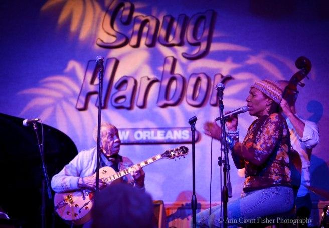 Charmain Neville performing at Snug Harbor.