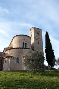 Exterior - the apse of St. Antimo.