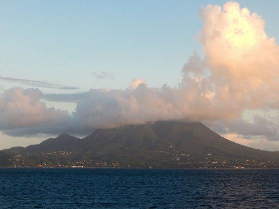 Mount Liamuiga -- highest point on Nevis and St. Kitts.