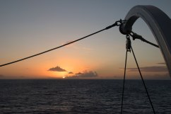 Sunset from the deck of Royal Clipper