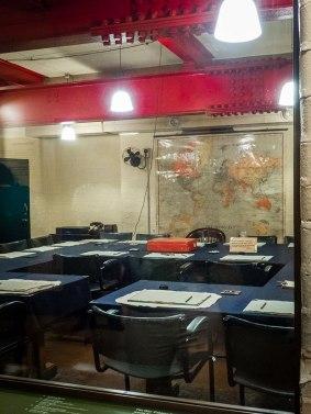 War Cabinet Room in the Churchill War Rooms in London