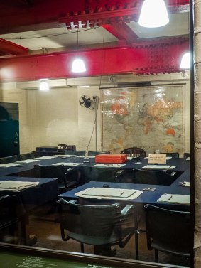 War Cabinet Room in the Churchill War Rooms in London