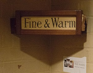 Weather Indicator in the Churchill War Rooms letting people know what things were like above ground.