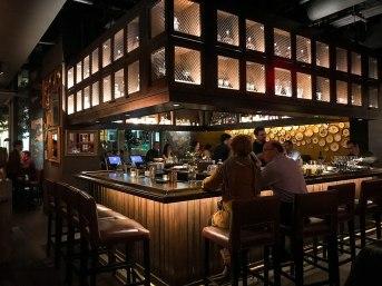 Bar at Fixe restaurant in Austin Texas