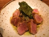 Roast Duck Breast at Fixe Southern restaurant in Austin Texas